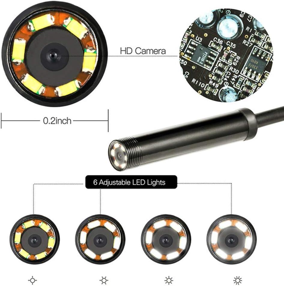 Beo Endoskop geeignet f/ür PC//OTG und Android Endoskop Inspektionskamera 2 in 1 HD wasserdichtem Schlange-Kamera Abflussrohr mit 6 LED