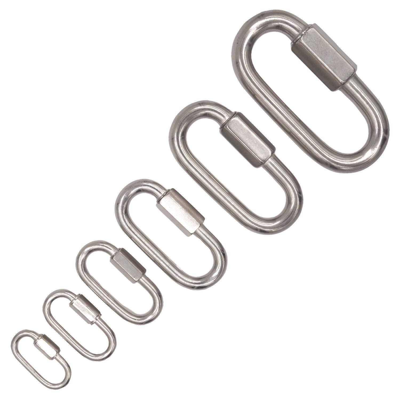 20x /Ø6mm Edelstahl Schraubverbinder V4A 4-12 mm Materialst/ärke verschiedene Mengen