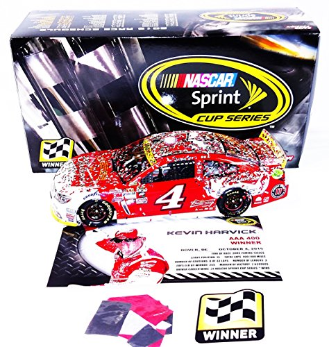 AUTOGRAPHED 2015 Kevin Harvick #4 Budweiser Racing DOVER WIN (AAA 400) Raced Version with Victory Lane Confetti Signed Lionel 1/24 NASCAR Collectible Diecast Car with COA (#523 of only 781 produced!)