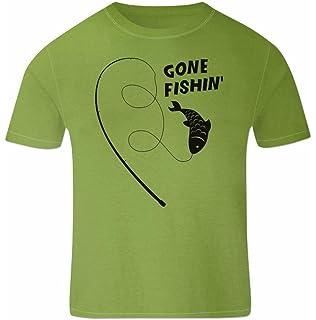 78921343f699f Tshirt Poisson pour Hommes Vêtement De Pêche Gone Fishin  Cadeaux pour  pêcheur