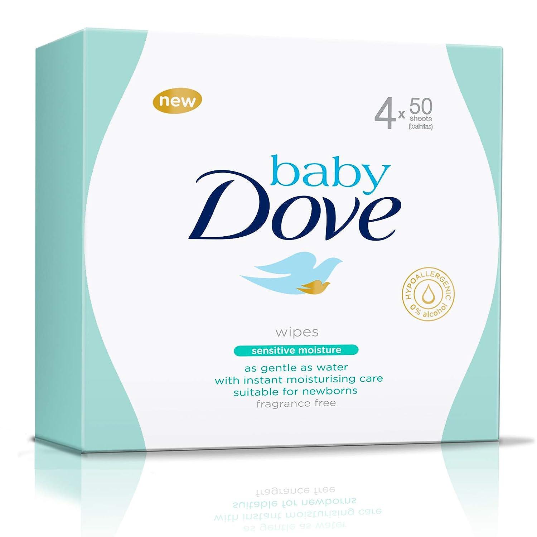 Dove Baby - Toallitas sensitive - Paquete de 4 x 50 unidades - Total: 200 unidades 8710908718199