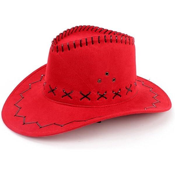 HMILYDYK Sombrero de vaquero del salvaje oeste con ala ancha ...