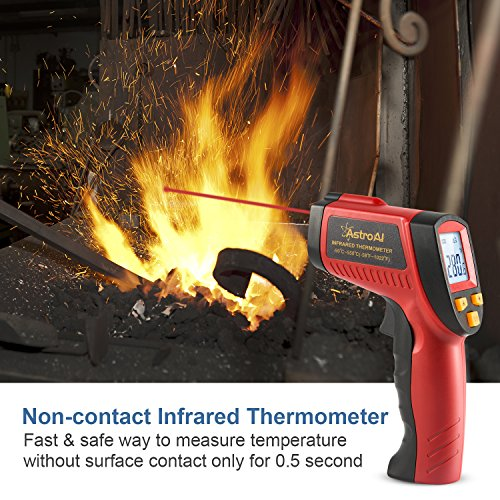 AstroAI Digital Laser Infrared Thermometer, 550 Non-contact Temperature Gun with Range of -58℉~1022℉ (-50℃~550℃), Red by AstroAI (Image #6)