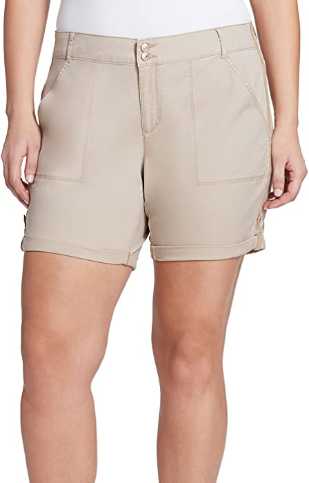 c37946b6144 Gloria Vanderbilt Plus Size Maren Shorts Perfect Khaki 16W at Amazon ...