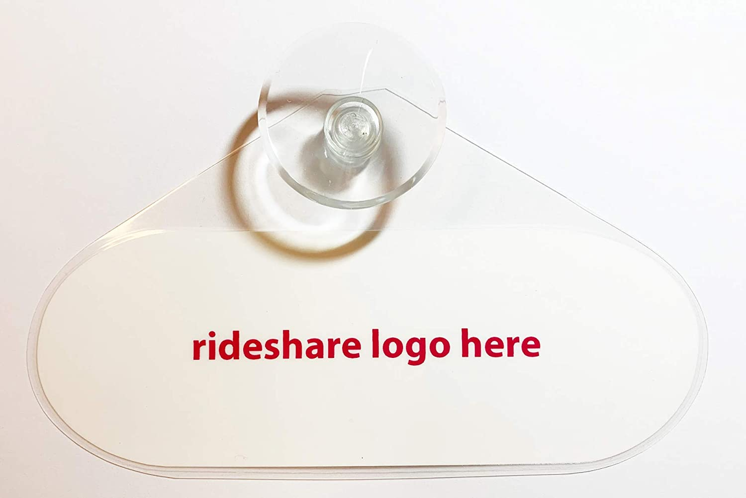 U 2 x display decal emblem with suction cup