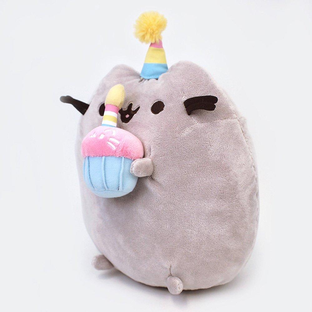 GUND Pusheen Snackables Birthday Cupcake Plush Stuffed Animal, Gray, 10.5'' by GUND (Image #3)