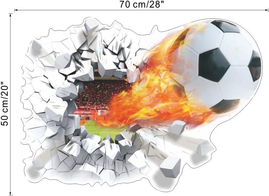 3D TV fondo para la pared con diseño de balón de fútbol efecto ...