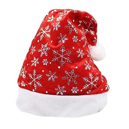 Biback Uomo Donna Natale Babbo Natale Cappelli Cappello con Decorazioni  Natalizie per Bambini Adulti Dimensioni ff1802bd2c53