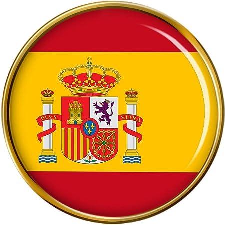Bandera de España Redondo Prendedor Pin: Amazon.es: Hogar