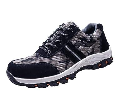 4785e727e537 Hibasing Unisex Camouflage Safety Shoes