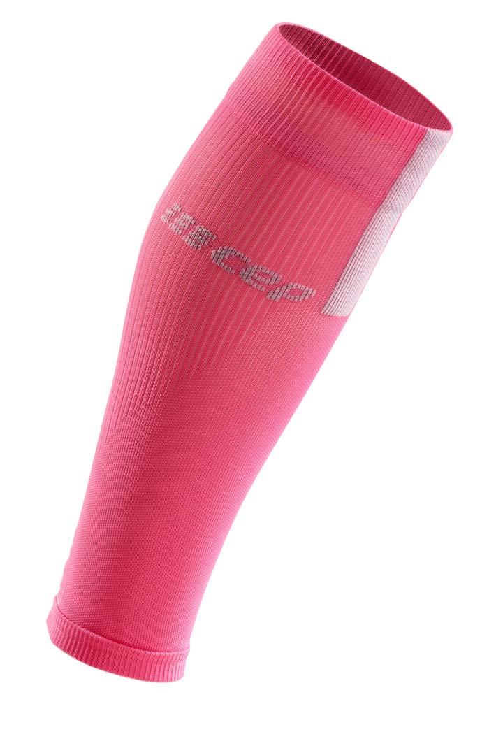 CEP Women's Compression Run Sleeves Calf Sleeves 3.0, Rose/Light Grey II