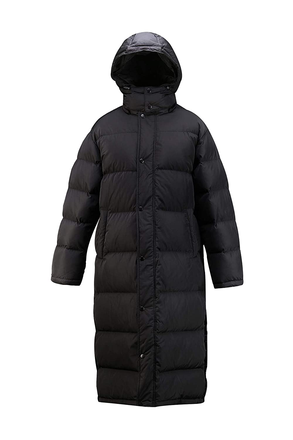 ByTheR Mens Detachable Hood Side Button Open Dual Covering Padded Long Jacket P000CKZK-$P