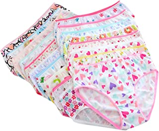 ECMQS Biancheria Intima Bambine Cotone Pantaloncini Briefs Cartone Animato Culottes Bambini colorato Affascinante, 2XL