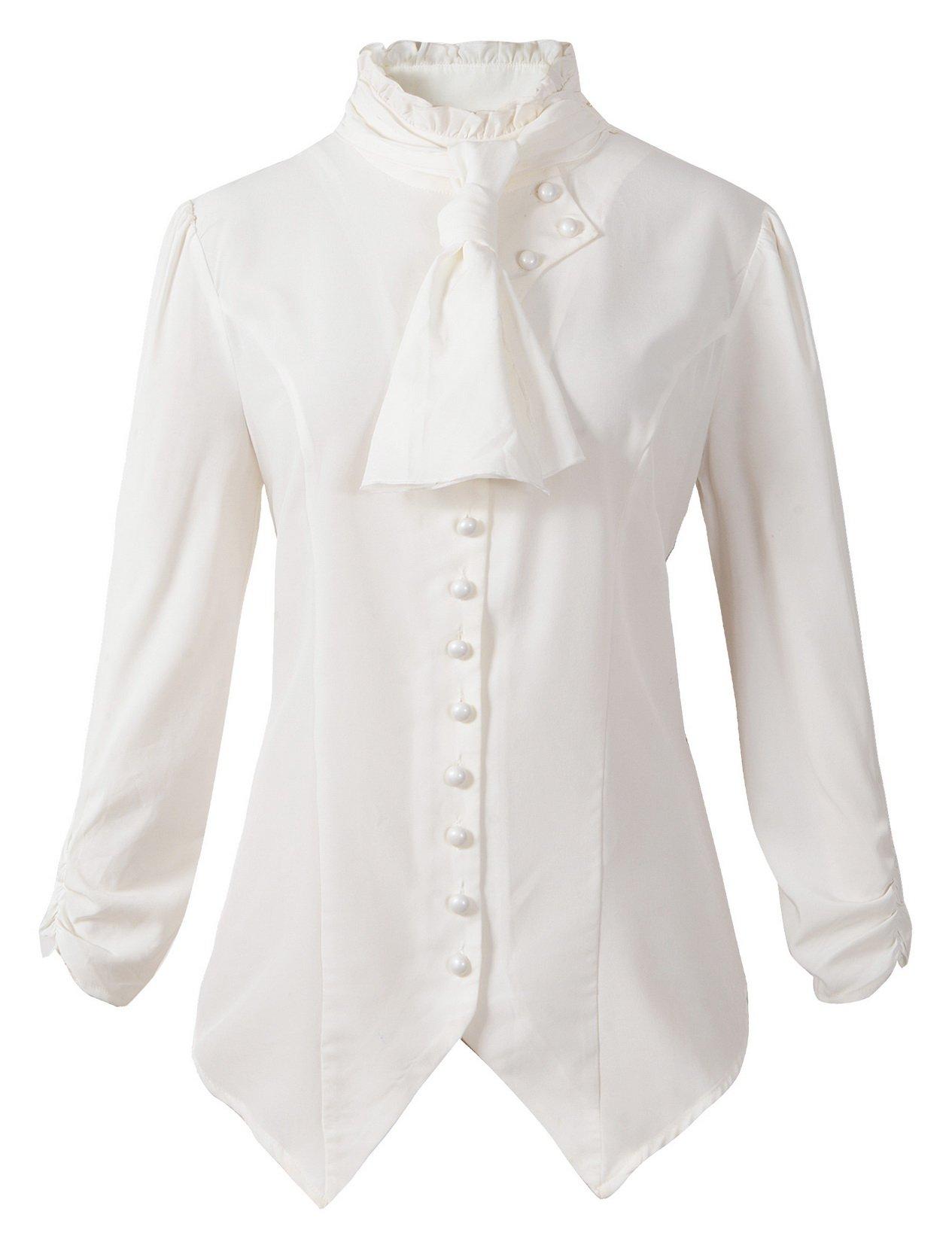 DarcChic Womens Gothic Victorian Steampunk Ruffle Vamp Renaissance Pirate Blouse Shirt Top 3