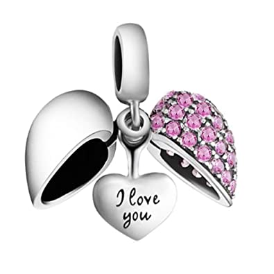 Happy Birthday Love Heart Charm Bead - 925 Sterling Silver - Gift boxed iuiFNf