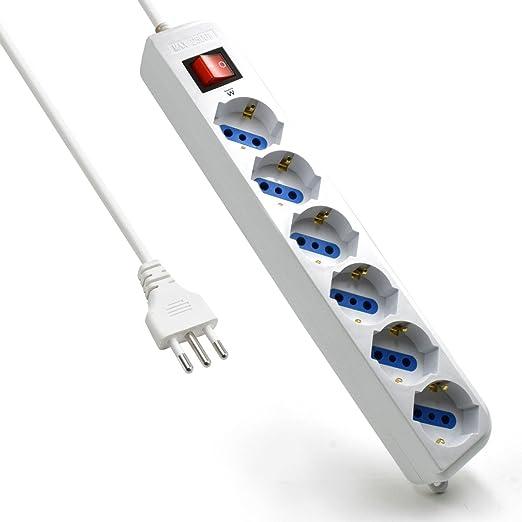 211 opinioni per Ewent EW3922 Multipresa Ciabatta Elettrica a 6 Posti con protezione sovraccarico