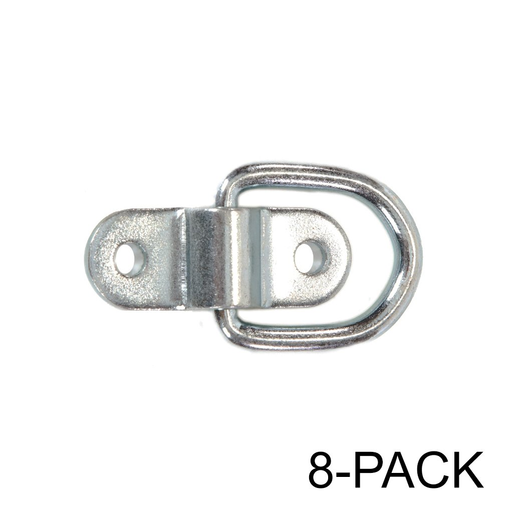 Stainless Steel D-ring Tiedowns 3,500 lb. Capacity Tie Down Anchors - 8 Pack