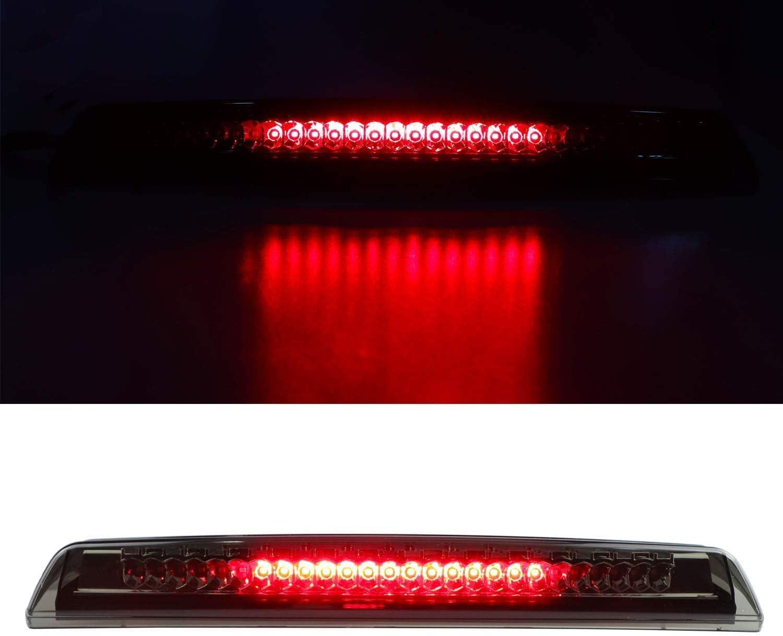 For 2004-2015 Nissan Titan Black Smoke 2005-2016 Nissan Frontier Third Center Cargo Reverse Rear LED Brake Light Bar Taillight High Mount 3rd Stop Light Assemblies