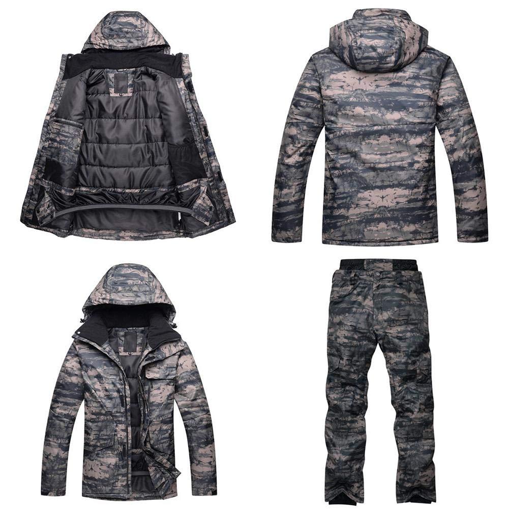 chivalrylist Combinaison de Ski Hommes Arctic Queen placage Hiver Combinaison de Ski de Camouflage /épaisse Chaude ext/érieure imperm/éable