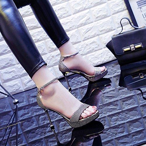 Sandalias Golden Zapatos 10cm Verano JRFBA con los Las y Tomadas Gatos Son OqYpw