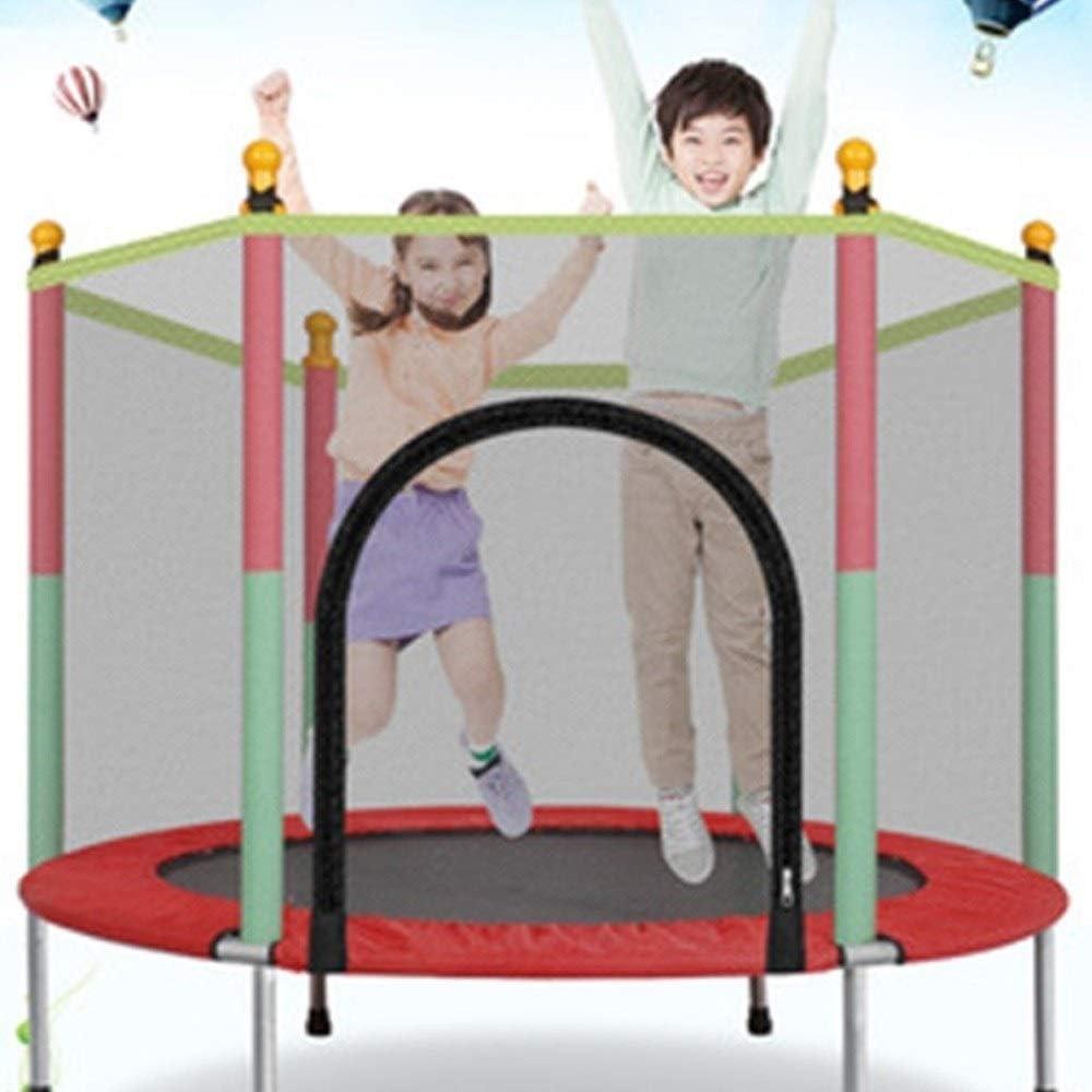 Trampolines NEWMAKES Elástica Plegable para niños de Seguridad Juego Cama elástica Jardín Interiores y Exteriores para niños de 5FT con Falda y Red de Seguridad