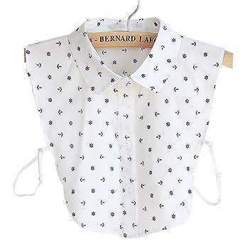 Modische abnehmbare Hemdkragen Vintage Elegant Mädchen Damen Fake Faux  Kragen Manschette Chiffon Choker Halbhemd Bluse Abnehmbare 6a1ff5aa22