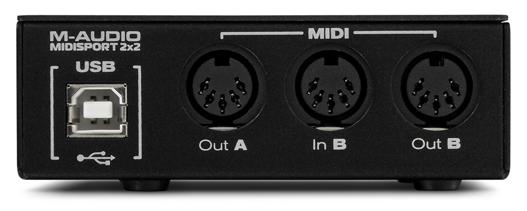 M-Audio Midisport 2x2 | USB Bus-Powered 2-In/2-Out 32 MIDI Channel Interface for Mac and PC by M-Audio