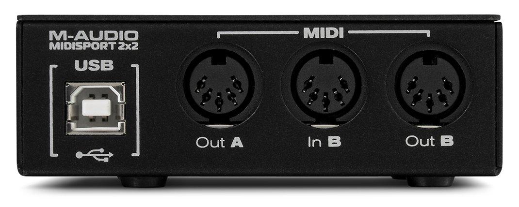 M-Audio MIDISPORT 2x2 Anniversary Edition | 2-in/2-out MIDI Interface (32x32 discrete channels I/O via USB) by M-Audio