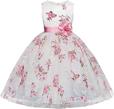 Robe Fille 10 Ans Vetements Fille Enfants Des Gamins Filles Floral Princesse Floral Robe Fete Sans Manches Tutu Robe Amazon Fr Sports Et Loisirs