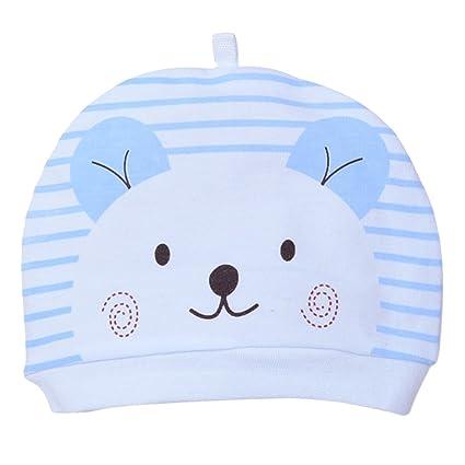 Youkara Sombrero de Punto de Algodón Sombrero de Bebé de Dibujos Animados Recién Nacido Bebé Recién Nacido Gorro de Niño Recién Nacido 0-3 Meses ...