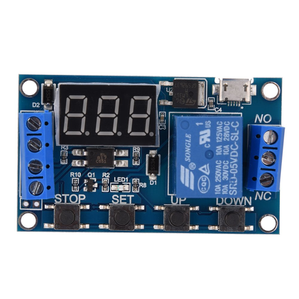 Dc 6 30v Digital Led Relay Board Cycle Timing Circuit Switch Timer Delay Trigger Module Micro
