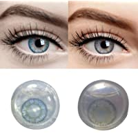 Iconic Eye® Sea blue & Grey Pack Monthly Contact Lens (0, Sea Blue, Grey, Pack of 4)