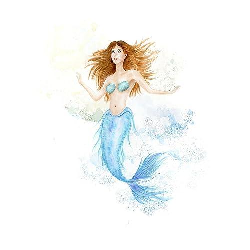 Amazon Com Little Mermaid Watercolor Baby Girl Fantasy Room Decor