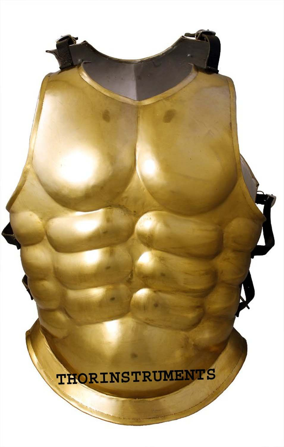 THORINSTRUMENTS Armor Brass Muscle Jacket Cuirass Wearable Greek Muscle Renactment Costume CO by THORINSTRUMENTS