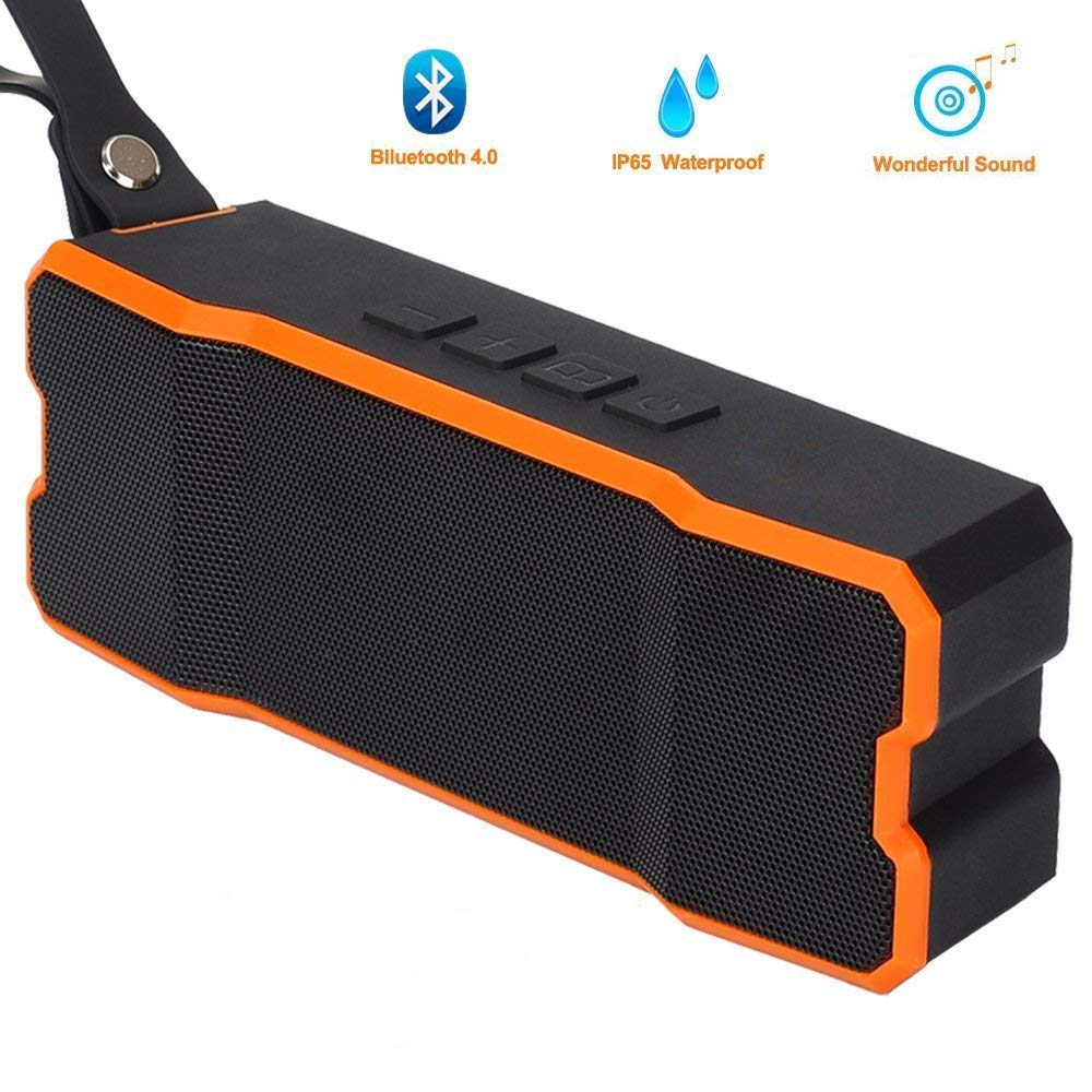 Wireless Waterproof Bluetooth Speaker, POWERIVER Portable 4.1 Bluetooth Computer Outdoor Speakers with MP3 Player 15W IPX65 for iPhone iPad&iPod