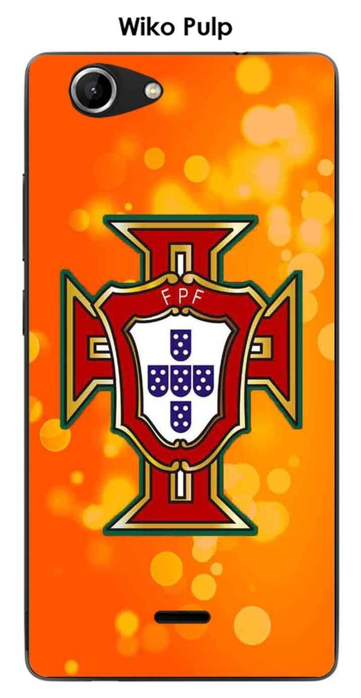 Onozo Carcasa Wiko Pulp Design Foot Portugal Fondo Naranja ...