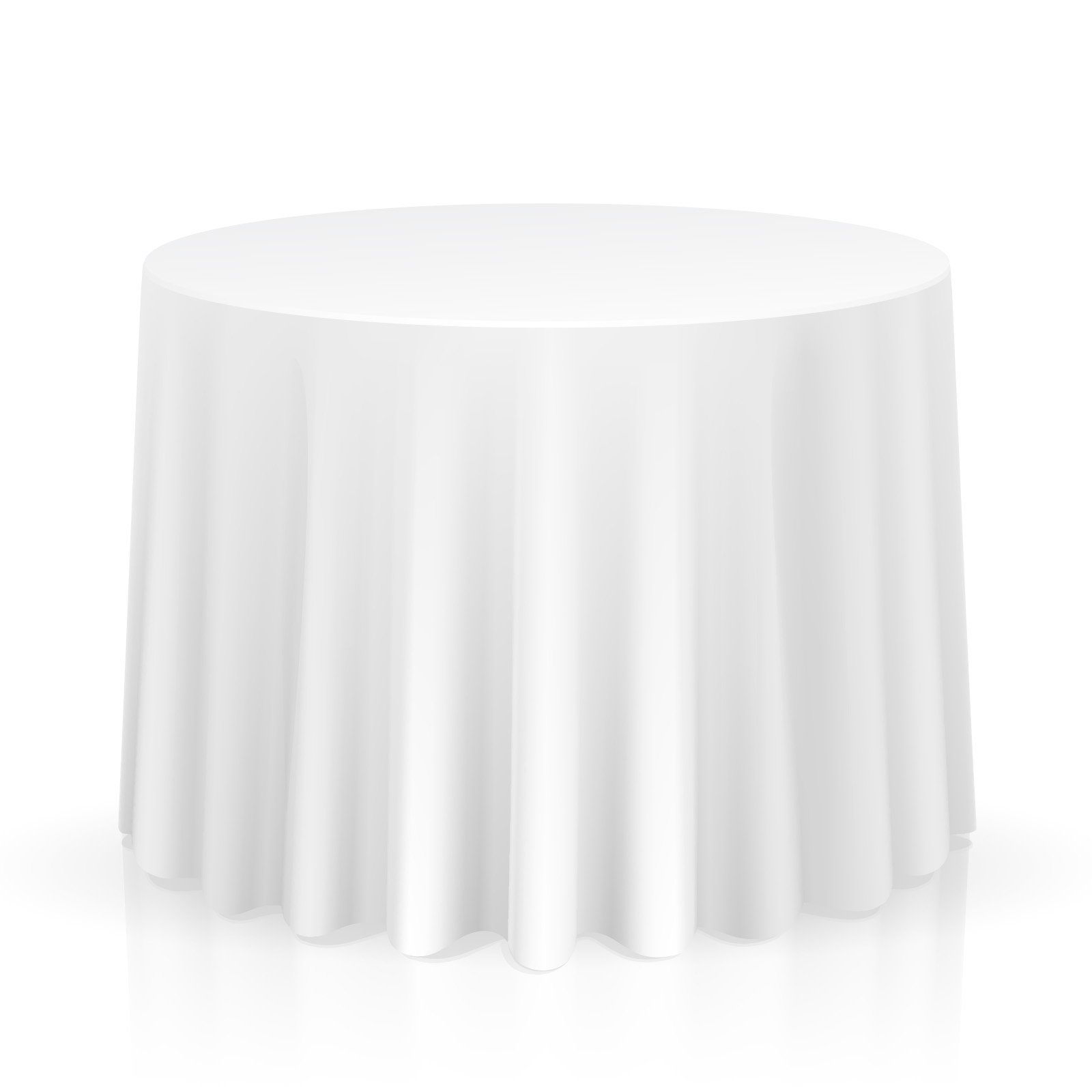 Lann's Linens - 5 Premium 120'' Round Tablecloths for Wedding/Banquet/Restaurant - Polyester Fabric Table Cloths - White