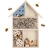 Wooden Insect Bee House, Wooden Insect House Durable Wood Bug Room Hotel Shelter Garden Decoration Box for The Lawn…