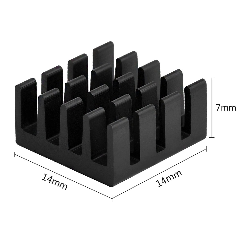 Ruban adh/ésif conducteur pr/é-appliqu/é 3M 8810 pour Refroidissement des puces GPU IC VRAM VGA RAM Easycargo 10pcs 14mm dissipateur Kit 14x14x10mm