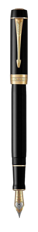 Palladium Trim Parker Duofold Centenial Prestige Stylo /à plume avec coffret cadeau Motif cisel/é Finition palladium Pointe moyenne Gamme classique Red Vintage Centennial