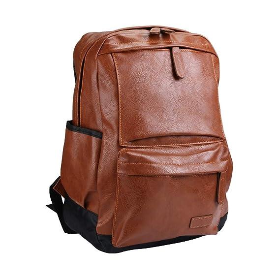 IMJONO Vendimia Mochila Viajar Cuero Bolso Mochila Hombro Bolsa para la Escuela: Amazon.es: Equipaje