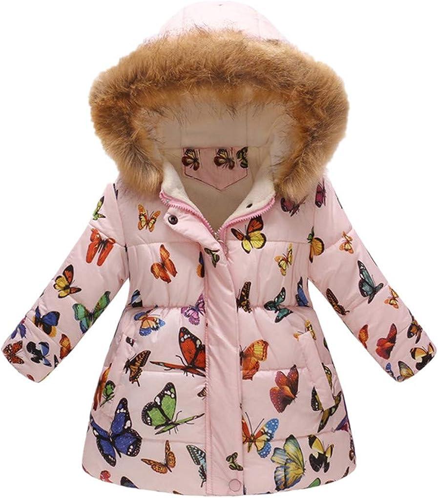 Details about Toddler Kids Baby Boys Girls Winter Warm Faux Fur Hooded Jacket Coat Outwear US