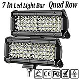 LED Light Bar,7 Inch 2PCS 288W LED Flood Light Pods Work Light Bar