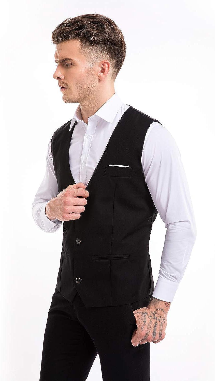 Zicac Mens Top Designed Casual Slim Fit Skinny Dress Vest Waistcoat