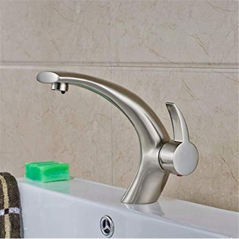 Mischbatterie Brause Drehbar Bad Spültischtippen Sie Auf Weit Verbreitete Swan-Auslaufmischer Aus Gebürstetem Nickel