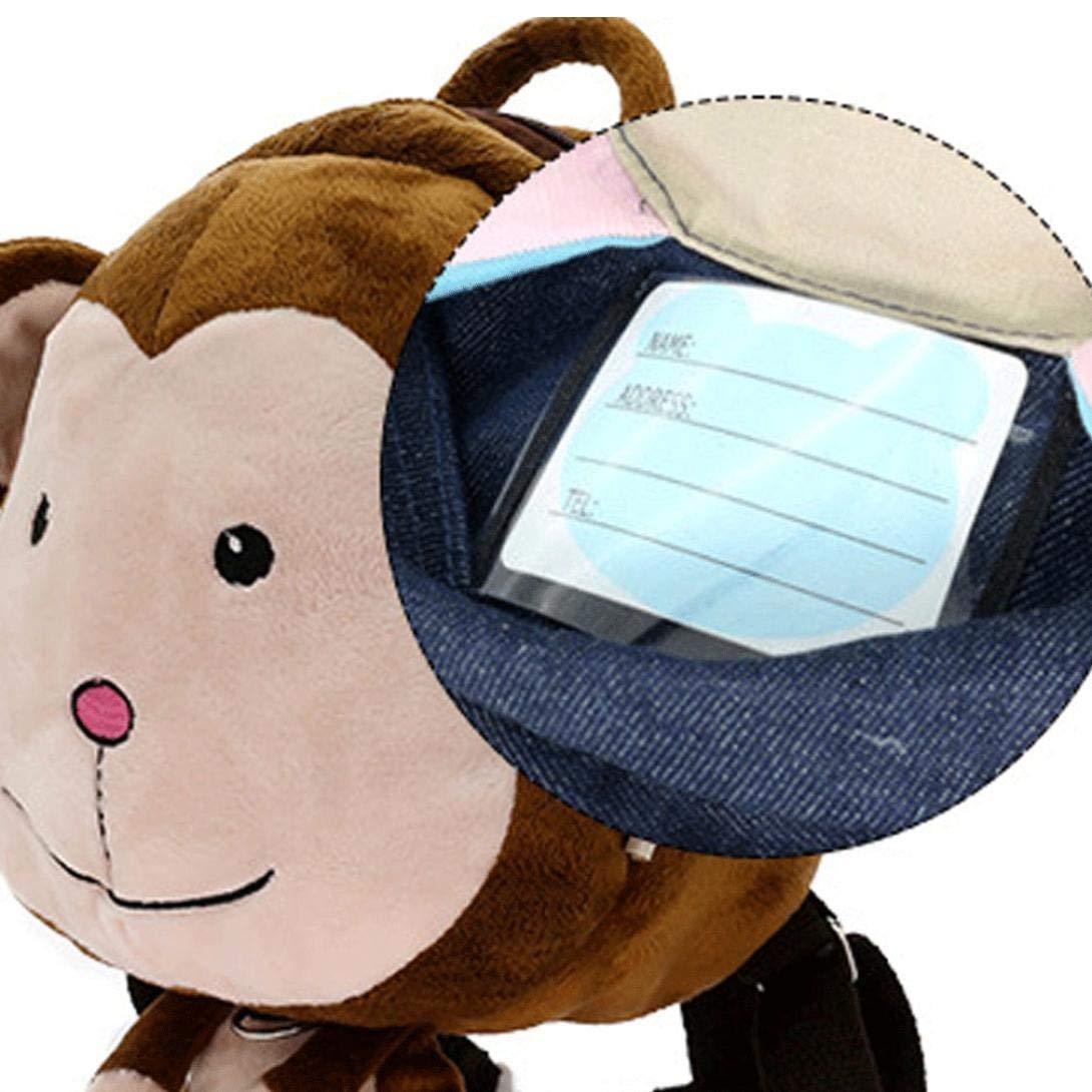 Kinder Kleinkind Vorschul Rucksack-Pl/üsch-Tier-Karikatur-Rucksack-Baby-Kind-Schule-Ranzen Reisen Sicherheits-AFFE Muster Mittagessen Taschen