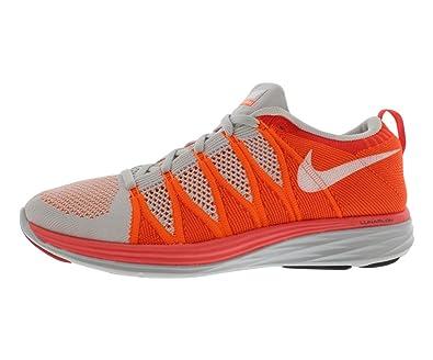 Nike Flyknit Lunar2, Pr Platinum / weiÃ?-ATMC orange-brgh C,