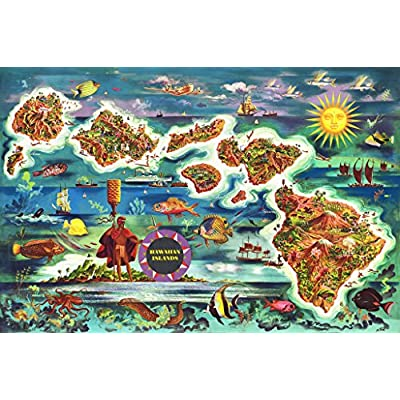 Vintage Hawaii 1000 Piece Jigsaw Puzzle: Toys & Games
