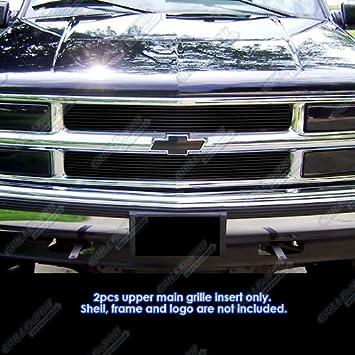 Amazon APS 94 99 Chevy Blazer C K Pickup Suburban Tahoe Black Billet Grille Grill Insert Automotive