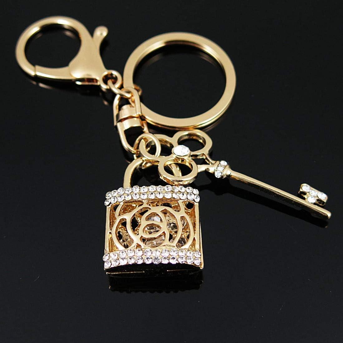 Aleación De Zinc Rhinestone Crystal Heart Keychain Love Lock Llavero Hombre / Amantes Colgante Llavero: Amazon.es: Juguetes y juegos